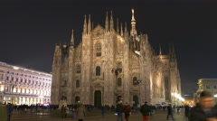 4K Milan Metropolitan Cathedral-Basilica Nativity Saint Mary Duomo di Milano Stock Footage