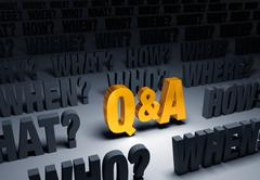 Golden Question And Answer Stock Illustration