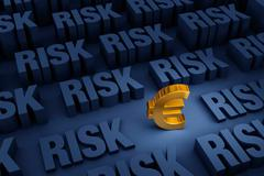 Looming Risk For The Euro Stock Illustration