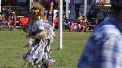 Pow wow sneak up dancers Stock Footage