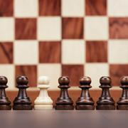 Uniqueness concept over chessboard background Stock Photos