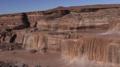 Grand Falls (aka: chocolate falls) Landscape Stock Footage