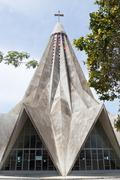 The church of San Antonio de Maputo which has a very unique star shaped architec - stock photo