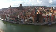 Old Town Gdansk in Poland Stock Footage