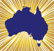 Australia Golden Silhouette Stock Illustration