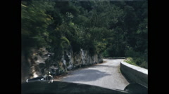 Narrow Road Driving French Riviera - stock footage