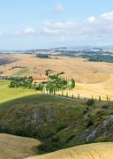 Stock Photo of Crete Senesi (Tuscany, Italy), landscape at summer