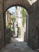 Colle di Val d'Elsa (Tuscany), typical street Stock Photos