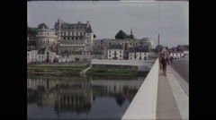 View of Avignon France on Rhone River 1957 - stock footage