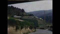 Approaching Vineyard in French Riviera 1957 Stock Footage