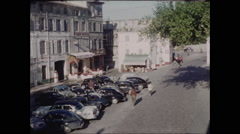 Town Square in Avignon France 1957 - 3 Stock Footage