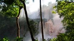 Iguassu Falls in Argentina - stock footage