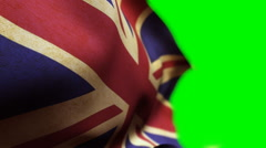 Great Britain Flag - stock footage