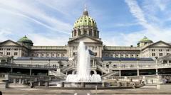 Harrisburg Pennsylvania State Capitol Building Stock Footage