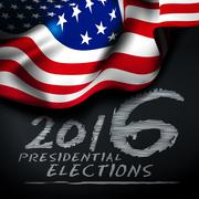 Presidential elections in the United States - stock illustration