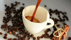Cup of coffee Stock Footage