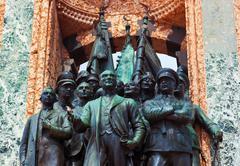 Mustafa Kemal Ataturk statue in Istanbul Turkey Stock Photos