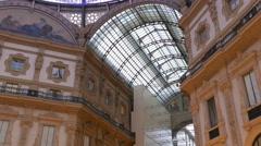 4K Milan Milano Viktor-Emanual-Passage Vittorio Emanuele II Galleria Italy Stock Footage