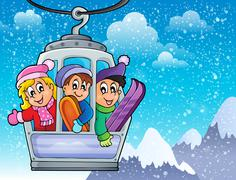 Cable car theme image 2 Stock Illustration