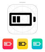 Half charge battery icon. Vector illustration - stock illustration