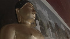Golden Buddha statue in at Wat Phra That Doi Suthep in Chiang Mai, Thailand Stock Footage