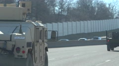 military convoy, St. Louis - stock footage