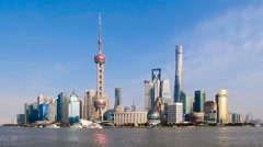 Shanghai bund skyline Stock Footage