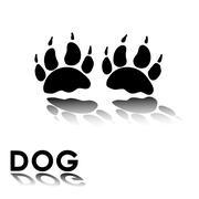 Stock Illustration of dog's paw prints