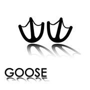 goose's paw prints - stock illustration