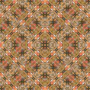 Decorative Floral Motif Pattern Background - stock illustration