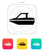 Boat icon - stock illustration