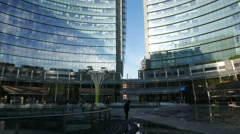 TL 4K Milan Milano Modern architecture office Porta Nuovo Unicredit Tower - stock footage