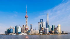 Stock Video Footage of shanghai bund skyline