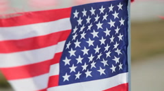 A brisk breeze blowing the American flag Stock Footage