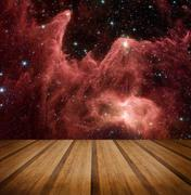 Space galaxy nature background. Elements of this image furnished by NASA - stock photo