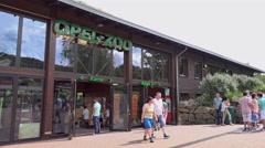 Entrance to Opel Zoo in Kronberg im Taunus Germany 4k Stock Footage