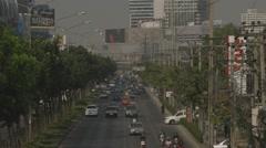 Traffic on Ratchadaphisek Road Stock Footage