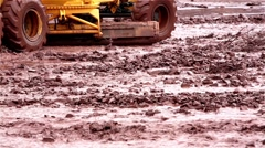 Stock Video Footage of grader on a flood road