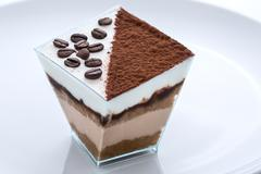 frozen yogurt coffee and cacao cake - stock photo