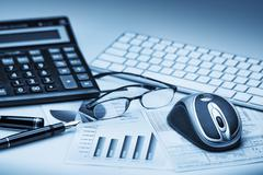 Business accounting Stock Photos
