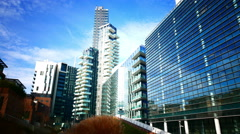 4K Milan Milano Modern architecture office Porta Nuovo Business District Italy - stock footage