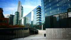 4K Milan Milano Modern architecture office Porta Nuovo Business District Italy Stock Footage