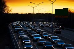 Stock Photo of Traffic heading for home
