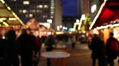 Shoppers on christmas market Stock Footage