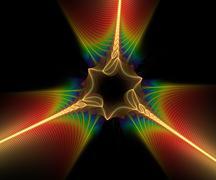 Computer generated fractal artwork - stock illustration