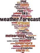 Stock Illustration of Weather forecast word cloud