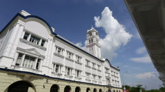 Malaysian railway Building, Georgetown, Penang Stock Footage