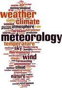 Meteorology word cloud Stock Illustration