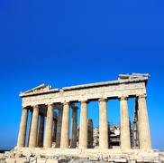 Parthenon on the Acropolis, Athens, Greece - stock photo