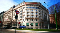 4K Milan Milano Excelsior Gallia Hotel Italy Stock Footage